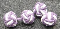紫・白 KNOT/KNOT(組みひもカフス)